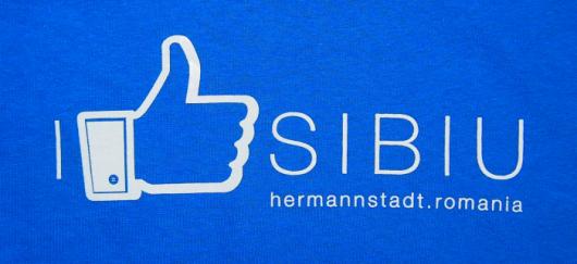 Tricou albastru I like Sibiu_02