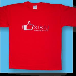 Tricou rosu I like Sibiu_01