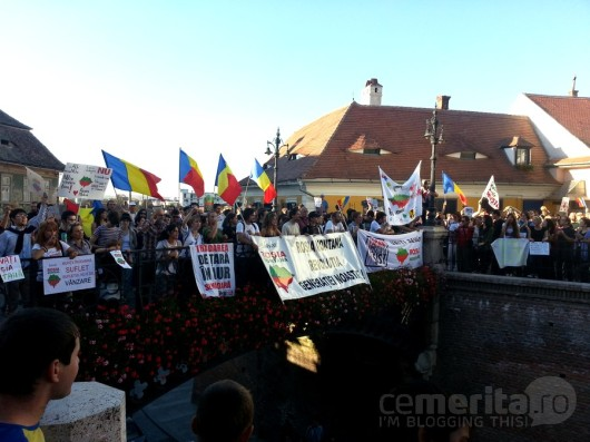 poze protest rosia montana sibiu08
