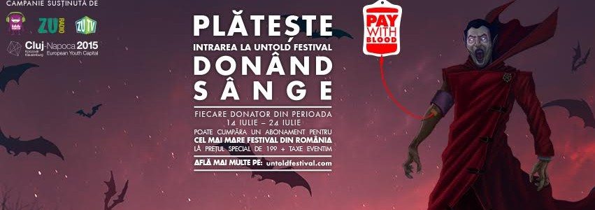 UNTOLD Festival: rezultatele campaniei Pay with Blood