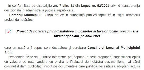 Am depus două propuneri pentru modificarea sau anularea unor taxe locale